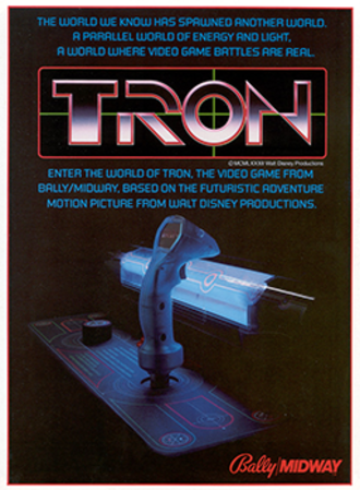 Tron (video game) - North American arcade flyer