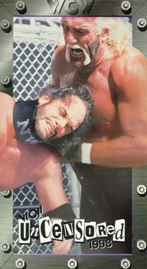 WCW Uncensored - VHS cover featuring Hollywood Hogan and Randy Savage