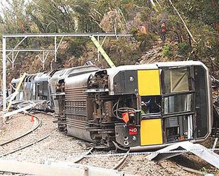 Waterfall rail accident 2003 train crash in New South Wales, Australia