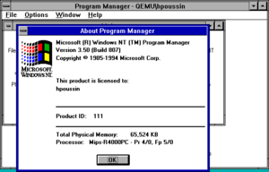 Windows NT 3.5 - Image: Windows NT 3.5
