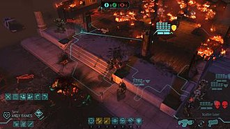 XCOM: Enemy Unknown - The combat view (see the file description page for an extensive explanation of the elements shown).