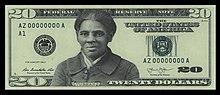 Immagine di una banconota da 20 dollari con la faccia di Tubman