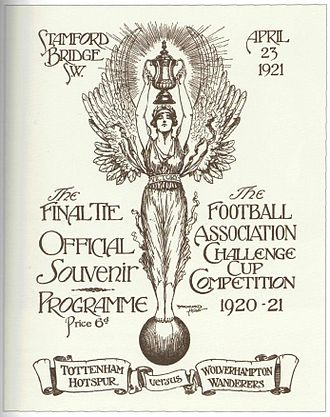 1921 FA Cup Final - Programme of the match