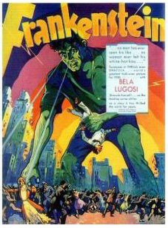 "Frankenstein (1931 film) - The 1931 ""Lugosi as Frankenstein's Monster"" promo poster, without the now famous flat head makeup"