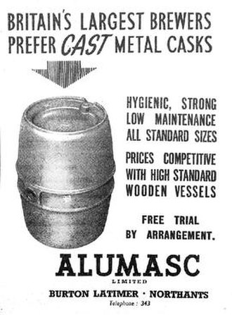 Alumasc Group - Advertising for cast metal casks being produced by the company in 1952.