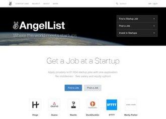 AngelList - Image: Angel List screenshot