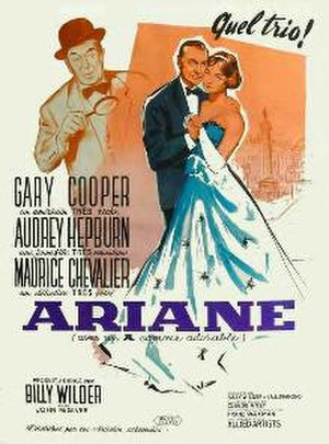 Love in the Afternoon (1957 film) - The poster used for the film's release in French-speaking markets