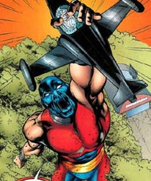 Albert Rothstein - Atom Smasher about to crush Kobra.
