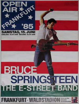 Born in the U.S.A. Tour - Promotional poster for the June 15, 1985 show in Frankfurt