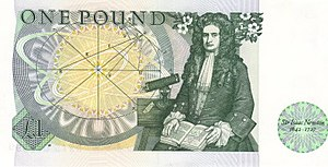Bank of England £1 note - Image: Bank of England £1 reverse