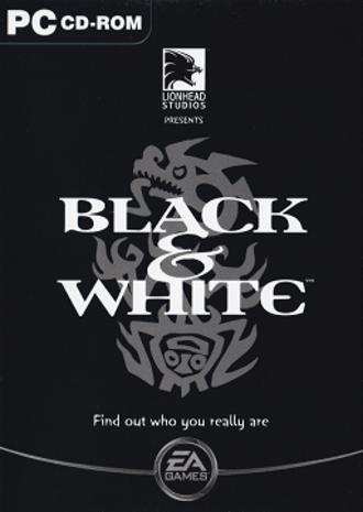 "Black & White (video game) - PC ""black"" cover."