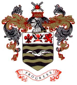 History of Blackpool F.C. (1887–1962) - Blackpool's 1938 club crest, which remained until 1968 before being revived again in the 1990s. It is still used today.