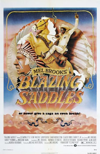 Blazing Saddles - Theatrical release poster by John Alvin