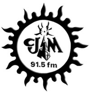 CJAM-FM - CJAM's last logo as 91.5, used until the frequency switch in October 2009.