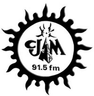 CJAM-FM - CJAM's last logo as 91.5, used until the frequency switch in October 2009.