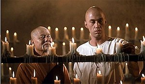 "Kwai Chang Caine - Master Po (left) and Kwai Chang Caine (right) in a flashback from the episode ""Dark Angel"", written by Herman Miller"