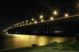 Captain Cook Bridge, New South Wales - Image: Captain Cook Bridge from Taren Point