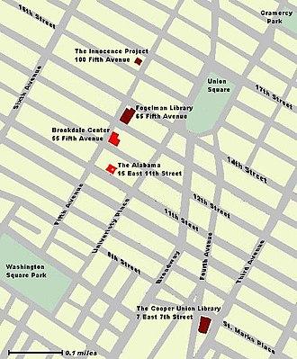 Benjamin N. Cardozo School of Law - Map of Facilities