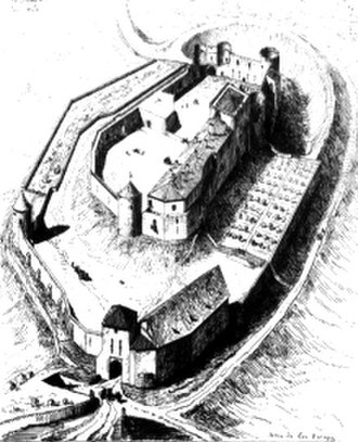 Jean III de Grailly, captal de Buch - The castle of Benauges was hereditary in the Grailly family after having been granted to Jean I de Grailly in the early 1260s.
