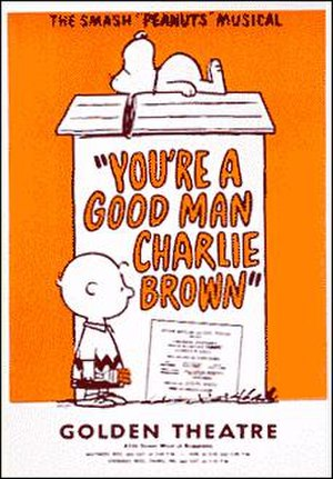 You're a Good Man, Charlie Brown - 1971 Broadway poster for the John Golden Theatre