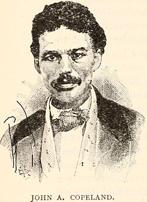 John Anthony Copeland Jr. - John Copeland in 1859, drawing from a newspaper, likely made during his trial