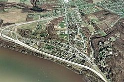 An aerial view of Dauphin