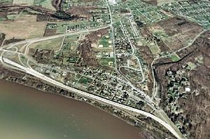 Dauphin, Pennsylvania - An aerial view of Dauphin
