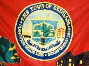 Flag of Dedham, Massachusetts