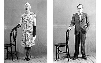 Dudley Clarke - The infamous photograph of Dudley Clarke wearing a dress which circulated among the Allied high command in late 1941