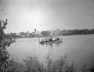 Lake Okabena - The Effie, a steamboat that operated on Lake Okabena in the 1890s