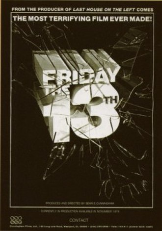 Friday the 13th (franchise) - Friday the 13th did not have a completed script when Sean S. Cunningham took out this advertisement in International Variety magazine.