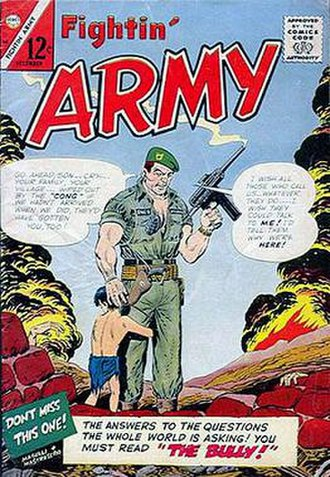 United States Army Special Forces in popular culture - 1966 Fightin' Army comic book, published by Charlton Comics.