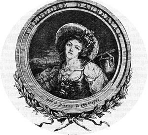 La fille mal gardée - Mme. Théodore Dauberval, creator of the role of Lise. Paris, 1761.