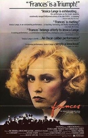 Frances (film) - Theatrical film poster