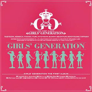 Girls' Generation (2007 album) - Image: Girls generation 1st album