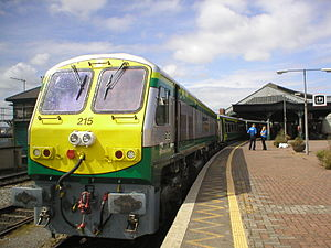 InterCity (Iarnród Éireann) - 201 Class locomotive at Cork