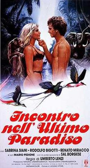 Daughter of the Jungle (1982 film) - Image: Incontro nellultimo paradiso 1982 poster