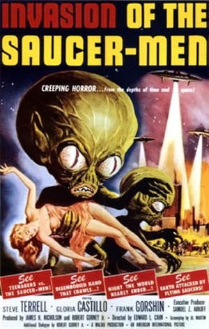 Invasion of the Saucer Men - Theatrical release poster by Albert Kallis
