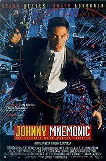 <i>Johnny Mnemonic</i> (film) 1995 American sci-fi/action film directed by Robert Longo