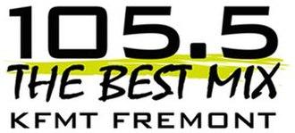 KFMT-FM - Image: KFMT 105.5The Best Mix logo