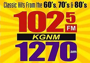 KGNM - Image: KGNM 102.5FM 1270am logo