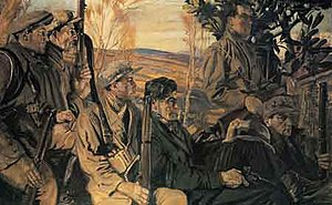 Seán Keating - Men of the South, 1921-22, Crawford Art Gallery, Cork.