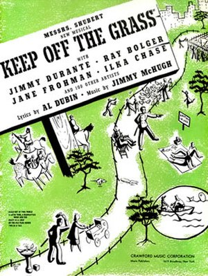 Keep Off the Grass - Sheet music cover (cropped)