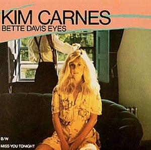 Bette Davis Eyes - Image: Kim Carnes BDE