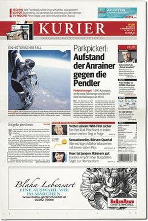 Kurier - Front page of Kurier, 7 November 2012