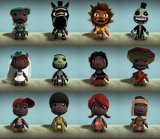 LittleBigPlanet (2008 video game) - A demonstration of the character customisation available in LittleBigPlanet.