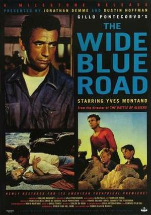 The Wide Blue Road - A poster with the film's English title: The Wide Blue Road
