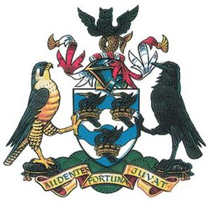 Liverpool John Moores University - Image: Liverpool John Moores University Coat of Arms