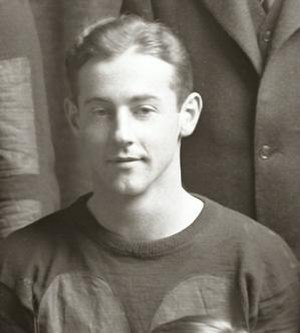 Louis Gilbert - Gilbert cropped from 1927 Michigan team photograph