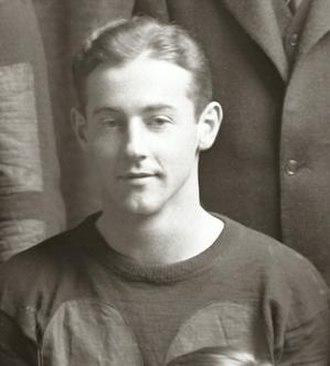 Louis Gilbert - Gilbert cropped from 1927 Michigan team photograph